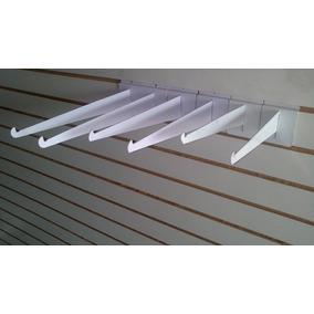 Mensula Para Panel Color Blanco 100 Piezas