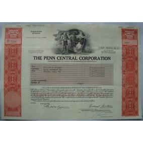 Apolice, The Penn Central Corporation Pennsylvania 1978 7580