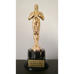 Estatuilla Oscar Premio De 20 Cm Base De Plastico Con Peso
