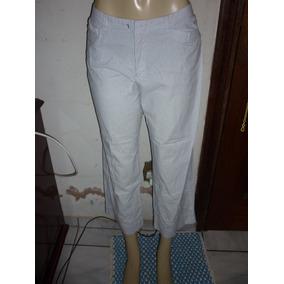 Calça Capri Em Algodão Com Renda - Calças Feminino no Mercado Livre ... 4ae1bf67e1b