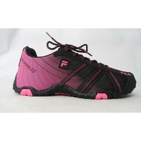Tenis, Fila, Slant Summer, 2.0w, Black/fluor Pink, 606673,