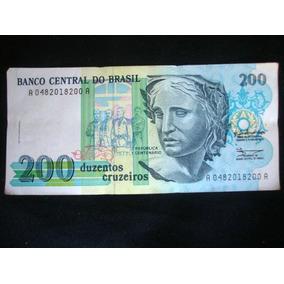 Cédula 200 Cruzeiros Nota Antiga