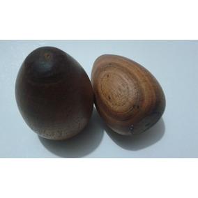 2 X Ovos De Madeira Para Cerzir Costuras De Meia.8 Cm