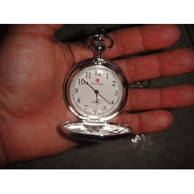 Reloj De Bolsillo Liso Plateado 4.5 Diametro 37 Cm Cadena