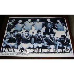 Poster Do Palmeiras - Campeão Mundial 1951
