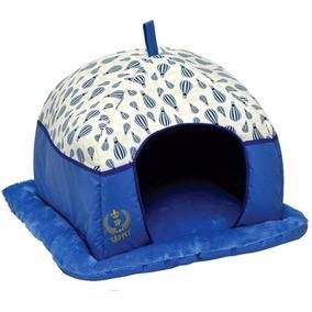 Caminha Tenda Luxo Toca Para Cães Cachorros Gatos Azul
