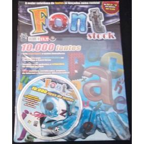 Font Stock - Cd Contendo Mais De 10.000 Tipos De Fontes