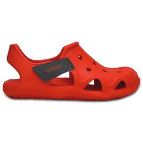 Zapato Crocs Niño Swiftwater Wave K Naranja