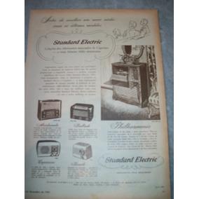 Propaganda Antiga Radios Standard Electric