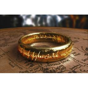 Anel - Senhor Dos Anéis Titânio Banhado Ouro 18k + Corrente