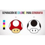 Serigrafia+separacion De Colores Y Diseños Camisetas