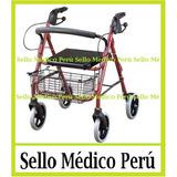 Andador Ortopèdico Plegable C/ruedas Frenos Canasta Asientoº