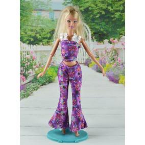 Conjunto Roupa Barbie Fashion E 4 Pares Sapato
