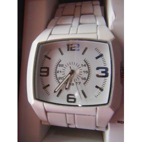 Elegante Reloj Mossimo Metallico Blanco Watch White Hombre