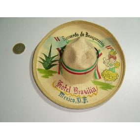 Antiguo Mini Sombero Charro Pintado Al Oleo Con Indigena f6a799cade2