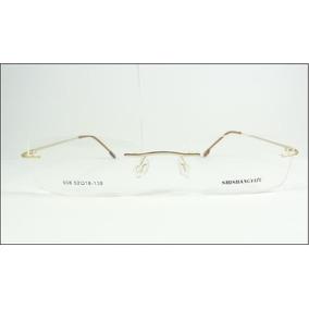 Armação Discreta Dourada Invisível Óculos Grau Titanium A602 · R  69 99 8081496be6