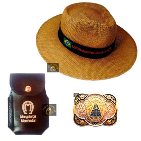 Chapeu Mangalarga + Fivela + Capa Celular - Frete Gratis! e15fc5d5792