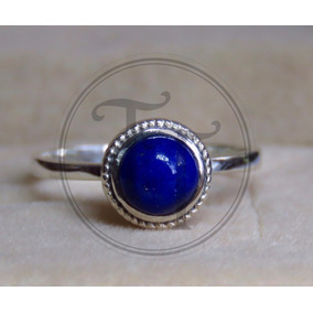 Anillo Plata Esterlina 925 Con Lapislazuli Natural 0.78 Ct