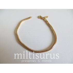 Pulseira Bracelete Lisa Trava Ouro 18k - Pulseiras e Braceletes no ... 2c77fa9ac5