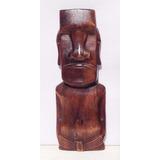 Moai Rapa Nui Madera Tallada