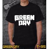65031011cd Camisetas Green Day Rock Roll Bandas Preta Guns Iron Maiden