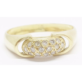 Anel Aparador De Aliança Ouro 18k C/ Diamantes