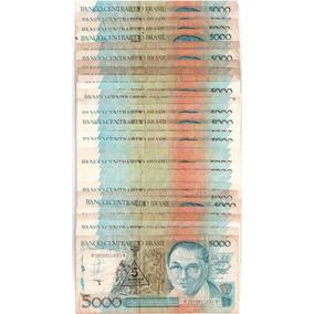 Cinco Mil Cruzados Antiga Nota Nacional Lote Com 30 N0401