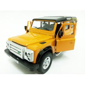 Miniatura Land Rover Defender 110 Laranja Rmz 1:32 Raridade