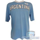 Camiseta Argentina Kappa (poliéster) Seleções Copa Do Mundo