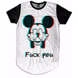 Camiseta Camisetão Masculino Oversized Swag Mickey Fuck You d0d716c6add91