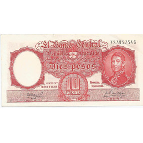 Billete 10 Pesos Moneda Nacional De 1962 Muy Bueno ¡oferta!