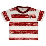 Camiseta List. Craquelada Meia Malha Menino Fluminense Reve 295ce62eb38be