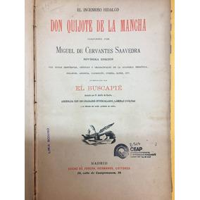 Don Quijote De La Mancha, Ed Saéz De Jubera, Madrid 1905 Lpb