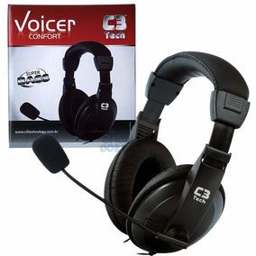 Fone De Ouvido Headset C/ Microfone C3 Tech Voicer Confort