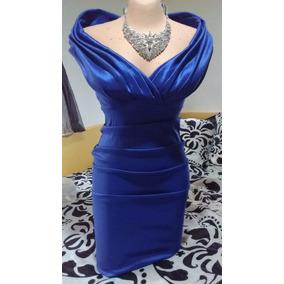 Vestidos de fiesta azul rey cortos