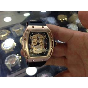 e832a6e993b Relogio Richard Mille Skull Dourado - Relógios De Pulso no Mercado ...
