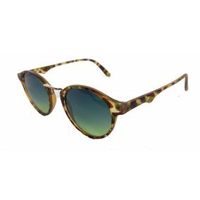 Óculos De Sol Unissex Redondo Safari Leopard - Super Leve 553808e583