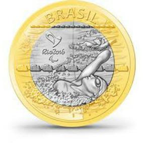 Moeda - Natação - Paraolimpica - Olimpíadas Rio 2016