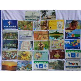 Lote Com 100 Cartoes Telefonicos Sem Repetidos + 1 Catálogo
