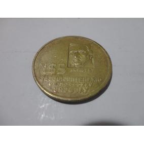 Moeda Sesquicentenário Mdcccxxv Uruguai - 5 Novos Pesos