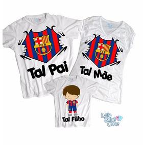 Kit Tal Pai Tal Filho Time Barcelona 3 Peças - Qualquer Time ed7bbe23722bb