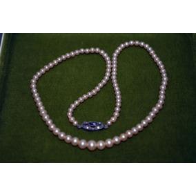 dd36c35a24eb Antiguo Collar De Perlas De Mayorca Broche En Plata De Niña