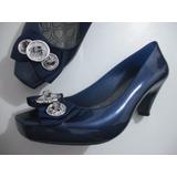 0f0607b0825 Sapato Fechado Azul Zalux Imita Melissa Tam 37 Bom Estado