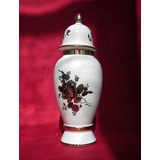 Potiche Vintage Porcelana Machado Dorado Oro Hermoso Regalo