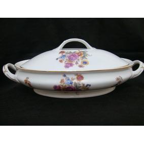 Guisera De Porcelana Sellada Y Numerada Checoslovaca H & C.