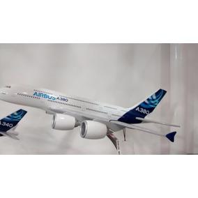 Airbus A380 31x28cm Avião Miniatura