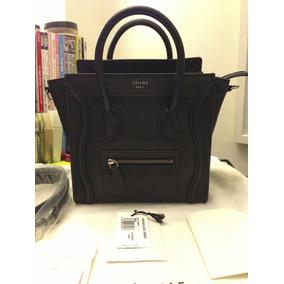 Bolsa Celine Nano Luggage Preta Original