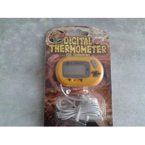 Termometro Digital Zoomed Para Aquarios Terrários Répteis