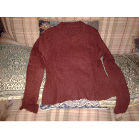 Sweater Café Oscuro Mujer Mangas Largas Talla S - M d73323d90e77