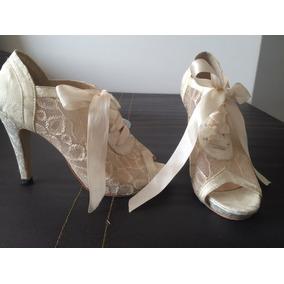 Zapatos De Encaje Para Novia - Ropa 116aa4bd5aa